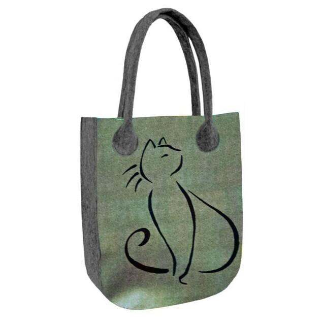 Filcová EKO taška Lovely Cat