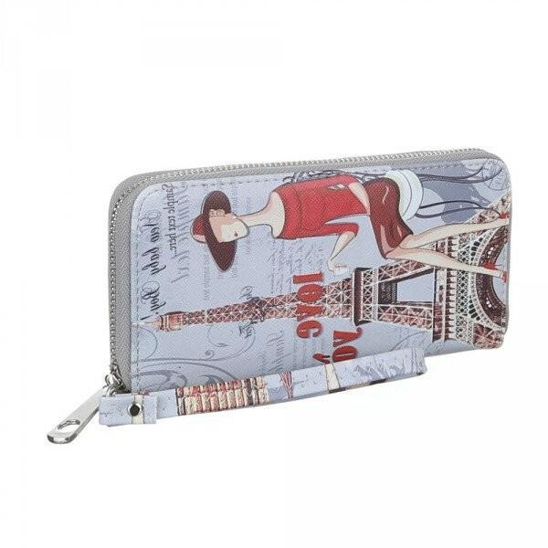 Peněženka Lady London/Paris - šedá