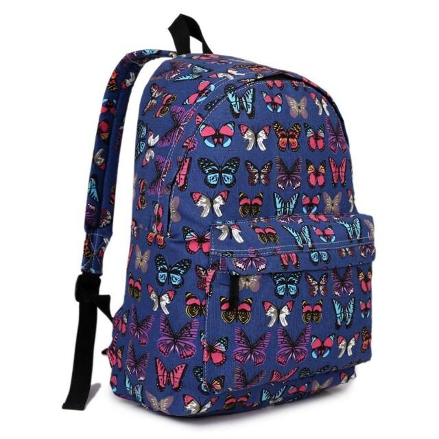 Batoh Lulu Butterfly - modrý