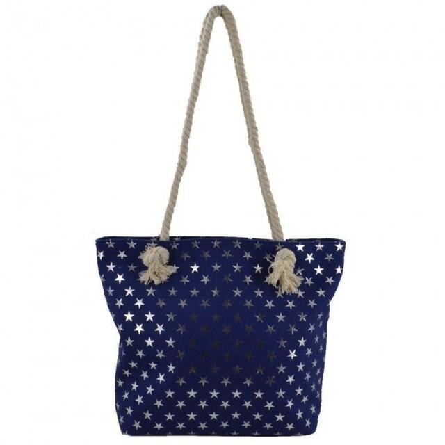 Plážová taška Metal Star - modrá - modrá 6fb277d0939