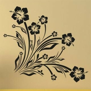 Samolepka na zeď Květiny 039