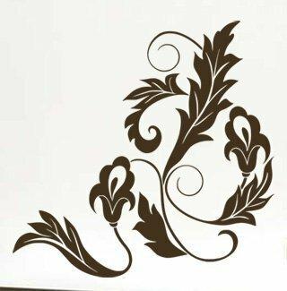 Samolepka na zeď Ornamenty z rostlin 023