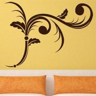 Samolepka na zeď Ornamenty z rostlin 006