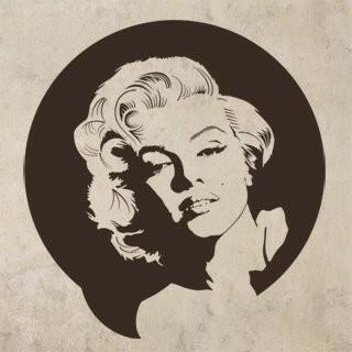Samolepka na zeď Marylin Monroe 001