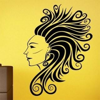 Samolepka na zeď Dívka 014
