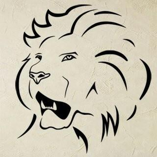 Samolepka na zeď Lev 015