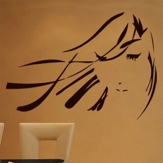Samolepka na zeď Geisha 001
