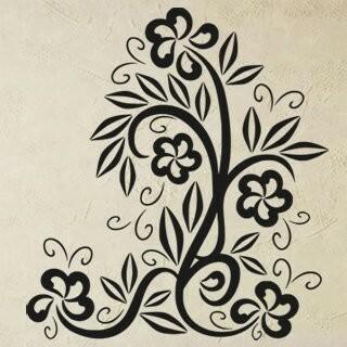 Samolepka na zeď Květiny 034