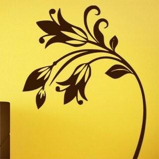 Samolepka na zeď Květiny 044