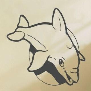 Samolepka na zeď Delfín 001