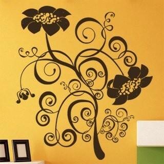 Samolepka na zeď Květiny 042