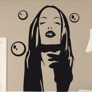 Samolepka na zeď Dívka 004