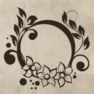Samolepka na zeď Ornamenty z rostlin 021