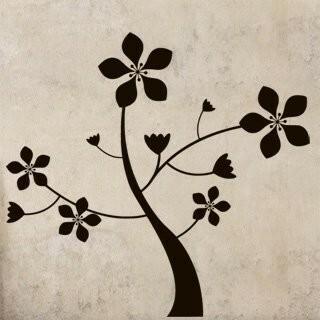 Samolepka na zeď Květina 0211