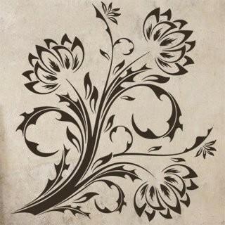 Samolepka na zeď Květiny 017