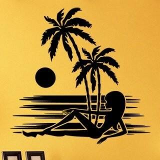 Samolepka na zeď Kráska na pláži 002