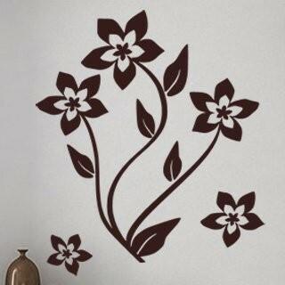 Samolepka na zeď Květiny 019