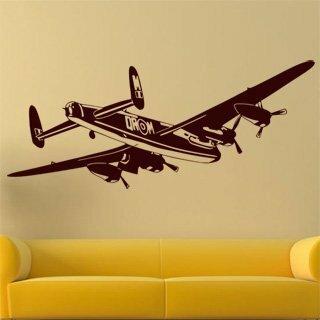 Samolepka na zeď Letadlo 015