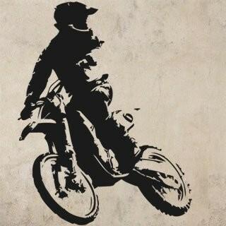 Samolepka na zeď Motorka 020