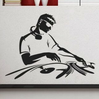 Samolepka na zeď DJ 002