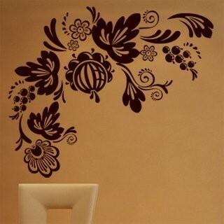 Samolepka na zeď Ornamenty z rostlin 017