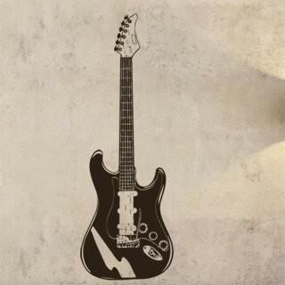 Samolepka na zeď Kytara 002