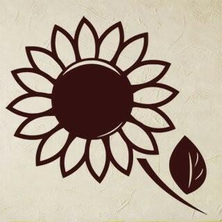 Samolepka na zeď Květiny 002