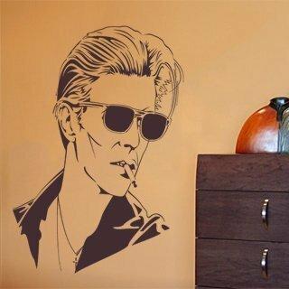 Samolepka na zeď David Bowie 001