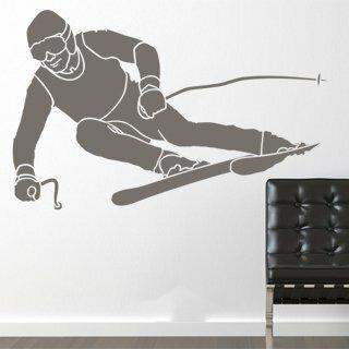 Samolepka na zeď Lyžař 001