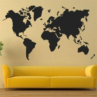 Samolepka na zeď Mapa světa 1230