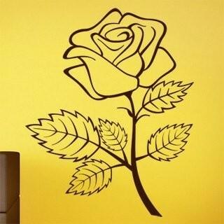Samolepka na zeď Růže 001