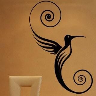Samolepka na zeď Kolibřík 001