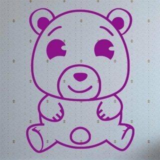 Samolepka na zeď Medvídek 001