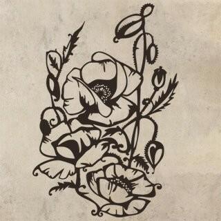 Samolepka na zeď Rostlina 017