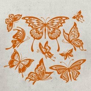 Samolepka na zeď Sada motýlů 001