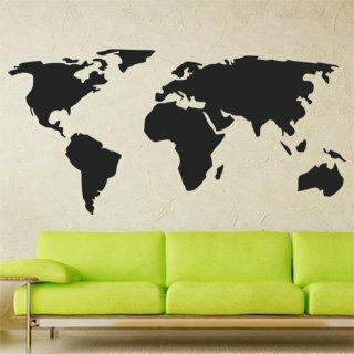Samolepka na zeď Mapa světa 1229