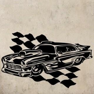 Samolepka na zeď Auto 057
