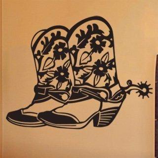 Samolepka na zeď Country boty 001