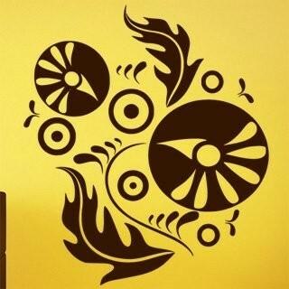 Samolepka na zeď Ornamenty z rostlin 011
