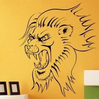 Samolepka na zeď Lev 002