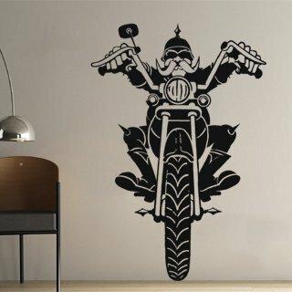 Samolepka na zeď Motorkar 001