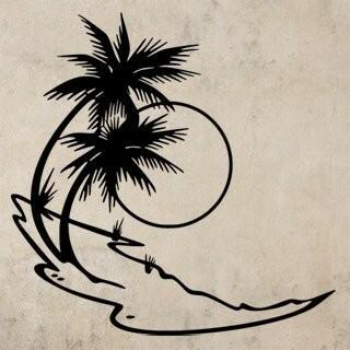 Samolepka na zeď Palmy 007
