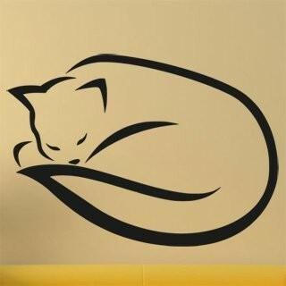 Samolepka na zeď Kočka 0485