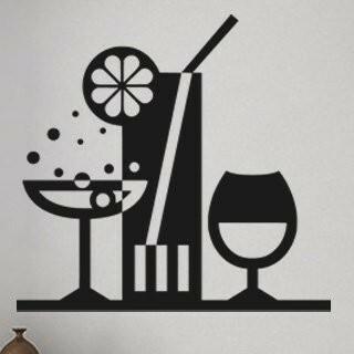 Samolepka na zeď Drinky 001