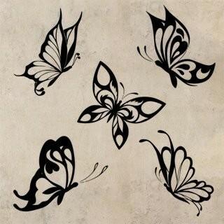 Samolepka na zeď Sada motýlů 002