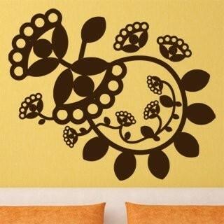 Samolepka na zeď Ornamenty z rostlin 016