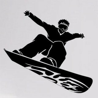 Samolepka na zeď Snowboardista 001
