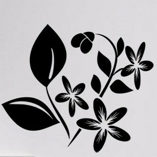 Samolepka na zeď Květiny 027