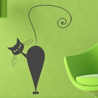 Samolepka na zeď Kočka 006