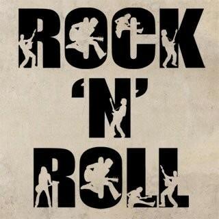 Samolepka na zeď Rock And Roll 003